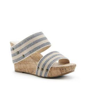 Sole Society Emilia Wedge Sandal Heels - 6.5